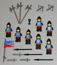 LEGO Minifigures Lot 7 Black Falcon Castle Knights Swords Weapons Lego Minifigs