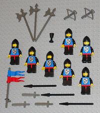 LEGO Minifigures Lot 7 Black Falcon Castle Knights Swords Weapons Lego Minifigs