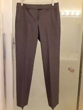 BANDOLERA Women's Classic Fit Pants Gray Striped Size 10 (EUR 38)