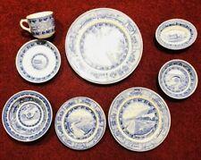 Baltimore & Ohio Railroad Blue Shenango 8 Pc Place Dinner Setting  China Vintage