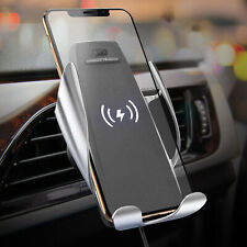 Automatic Qi Wireless Car Charging Charger Mount Clamping Vent Phone Holder