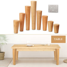 Wooden Cone Furniture Legs Replacement Stand Feet Sofa Table Chair Stool Chest