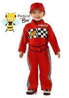 Childrens Boys Girls Kids F1 Formula One Racing Driver Suit Fancy Dress Costume