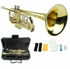NEW Merano B Flat Gold Brass Trumpet with Case Band Beginner Student Orchestra