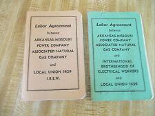 2 Labor Agreement Booklet Arkansas Missouri Power Company Gas Co. 1976 & 1980