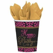 Fabulous Celebration Damask Birthday Paper Cups-18 count Value Pack-NEW-9oz.