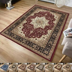 Traditional Area Rugs Non-Slip Living Room Antique Carpets Bedroom Indoor Mats