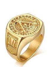 Yellow Gold Filled 18k Rings for Men