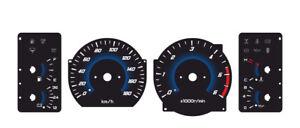 Custom speedometer instrument cluster gauge faceplate for Nissan Patrol GR Y60