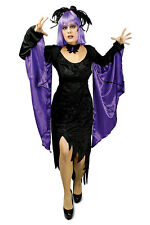 Bolero Shawl Bat Sleeves Wings Purple Black Ladies