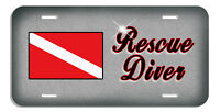 Scuba Flag Rescue Diver Auto License Plate Personalize Any Name -Text
