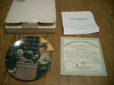 1993 Norman Rockwell Heritage Collection #17 Collector Plate The Jeweler Knowles