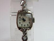 Vintage Hamilton WATCH Co WOMEN Watch 14Kt GOLD & DIAMONDS 17 Jewels U.S.A. MADE