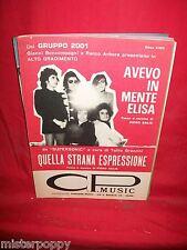 GRUPPO 2001 Avevo in mente Elisa Musica di PIERO SALIS 1972 Spartiti Sheet Music