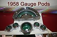 Corvette parts  1958 1959 1960 1961 1962 Gauge Pod Housing Cans Bezels
