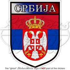 "SERBIA Serbian Shield 4""(100mm)  Bumper Sticker - Decal"