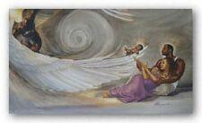 AFRICAN AMERICAN ART PRINT Heaven Sent Kevin Williams WAK 12x20