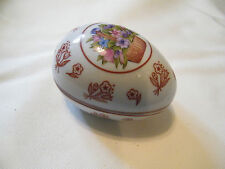 Collectible Signed Prestige Place Jewelry Trinket Box Egg Shape Nice