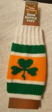 New St Patrick's Day Irish Beer Bottle Sweater Cover Green Knit Cozy