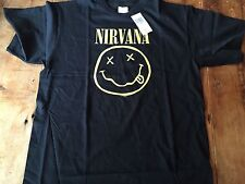 "NIRVANA T-Shirt   ""Smile""   Front Licensed Tee Size: Medium NEW! Quality HT Soft"