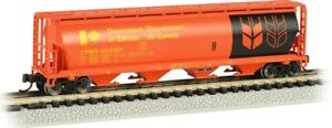N Scale - 4 Bay Cylindrical Grain Hopper Government of Canada - BAC-19154