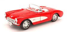 Chevrolet Corvette 1957 Red / White 1:24 Model 0251 WELLY