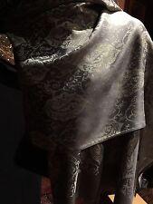 Vintage Style Knit Golden Brocade Pashmina Scarf Wrap Shawl