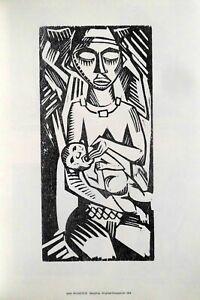 Max Pechstein, orig. Holzschnitt 1918 ( 1980 )