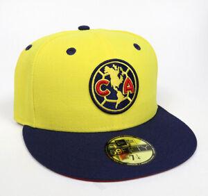 New Era Club America Aguilas 59FIFTY Fitted Hat Gorra Cerrada Navy/Yellow