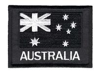 Australian National Flag ANF Patch White on Black