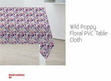 Table Cloth Wild Poppy Floral PVC Table Cloth