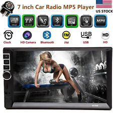 7 Inch Double 2 DIN Car FM Stereo Radio MP5 Player TouchScreen Blue-tooth Camera