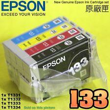 GENUINE EPSON 133 Ink T1331,T1332,T1333,T1334 T133 TX120 NX120 TX430 NX430
