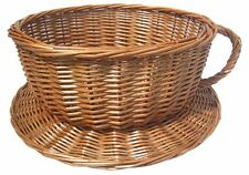 Tea Cup and Saucer Novelty Wicker Gift Coffee Shop Display Storage Basket - 40cm