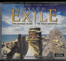 Myst III: Exile PC CD ROM Interactive  4 Disc Win 95/98/Me/Mac, 2001 Ubi Soft