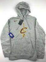 Nike Mens XL Cleveland Cavaliers Gray NBA Logo Club Sweatshirt Hoodie NWT