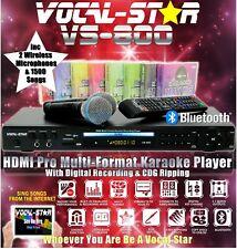 VOCAL-STAR 800 MEGA DEAL HDMI CDG BT KARAOKE MACHINE 2 WIRELESS MICS 1500 SONGS