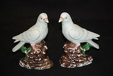 Vintage Set of Bisque Dove Figurines Mantel Table Weddings Curio Cabinet Shelf