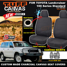 TUFF CANVAS SEAT COVERS for TOYOTA LANDCRUISER 100 SERIES STANDARD 1998-07 CHAR