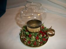 Christmas Lantern Tea Light Candle Holder Holiday Holly Berry