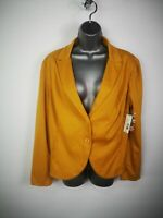 NEW WOMENS METAPHOR ORANGE BUTTON UP LONG SLEEVE CASUAL BLAZER JACKET XLARGE XL