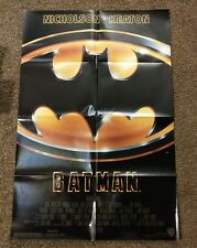 """Batman"" original US 1989 folded 27"" by 41' one sheet movie poster in ex cond"