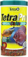 TetraPRO Tropical Color Crisps With Biotin for Fish Tropical Color Crisps 7.4-OZ