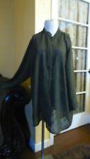 R.A.M.L.A Women's Green Mandarin Collar Buttons Oriental Blouse 1X EUC!!