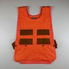 Vintage Saftbak Bird Hunting Vest Blaze Hunter Orange Skeet Shooting OSFM GUC