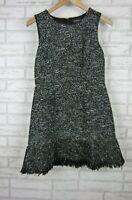Forever New Fit & Flare Dress Black, White Print Sleeveless Sz 10