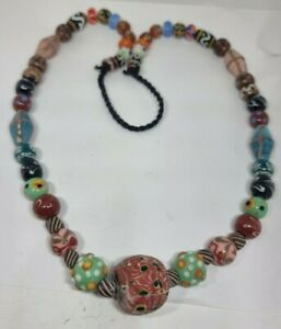 FANTASTIC EXTREMELY RARE ANCIENT PHOENICIAN GLASS BEAD NECKLACE 56 MIX BEADS