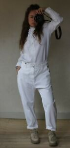 FALL WINTER SPRING SUMMER anthropologie white romantic ruffle shirt size S M