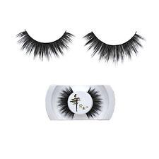 New Real Mink Hair Natural Soft Black Thick Long False Fake Eye Lashes Eyelashes