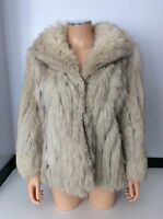 SAGA Fox London Vintage Fur Coat Jacket Size 14 Women's